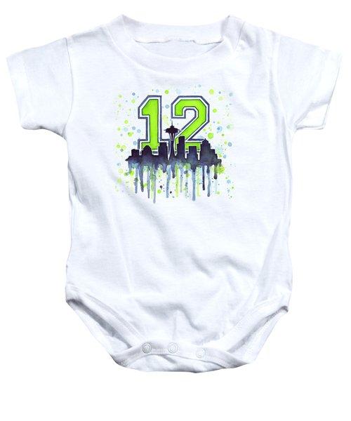 Seattle Seahawks 12th Man Art Baby Onesie