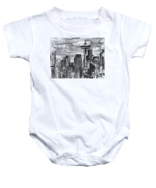 Seattle Skyline Space Needle Baby Onesie