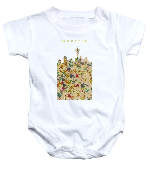 Seattle Skyline.2 Baby Onesie by Alberto RuiZ