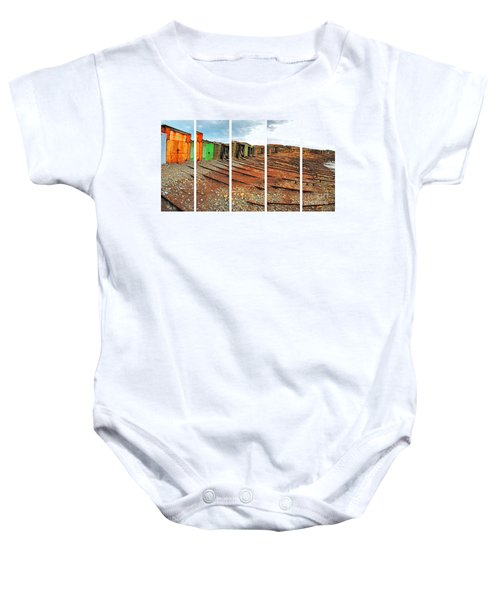Baby Onesie featuring the photograph Second Valley Boat Sheds by Stephen Mitchell