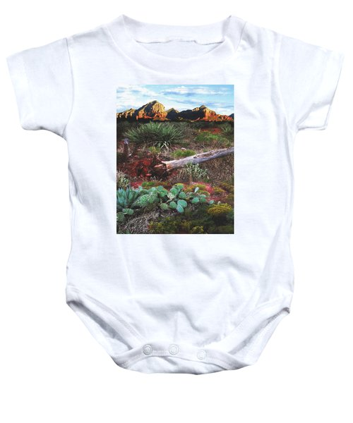Sedona Mountain Sunrise Baby Onesie