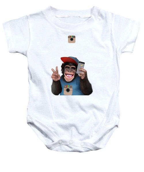 Selfi Chimpanzee Baby Onesie