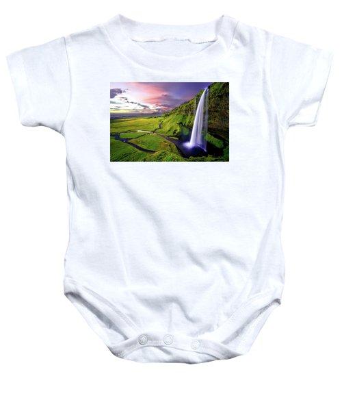 Seljalandsfoss Waterfall Baby Onesie