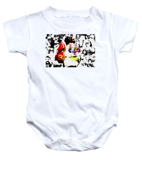 Serena Williams 2f Baby Onesie by Brian Reaves
