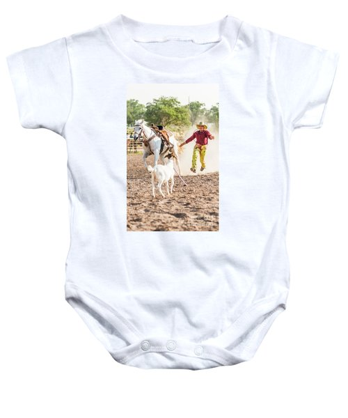Shawnee Sagers Goat Roping Competition Baby Onesie