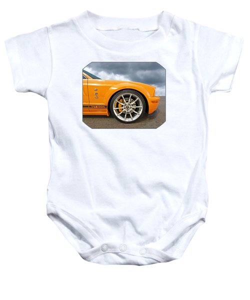Shelby Gt500 Wheel Baby Onesie by Gill Billington