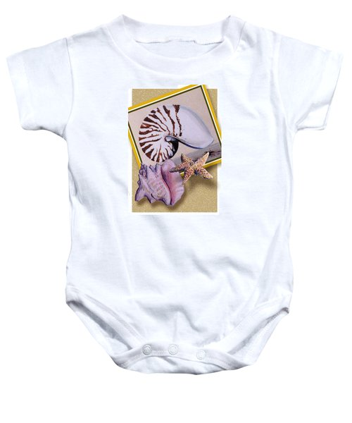 Shell Collage Baby Onesie