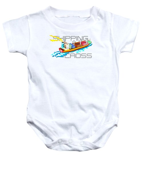 Shipping Cross Baby Onesie