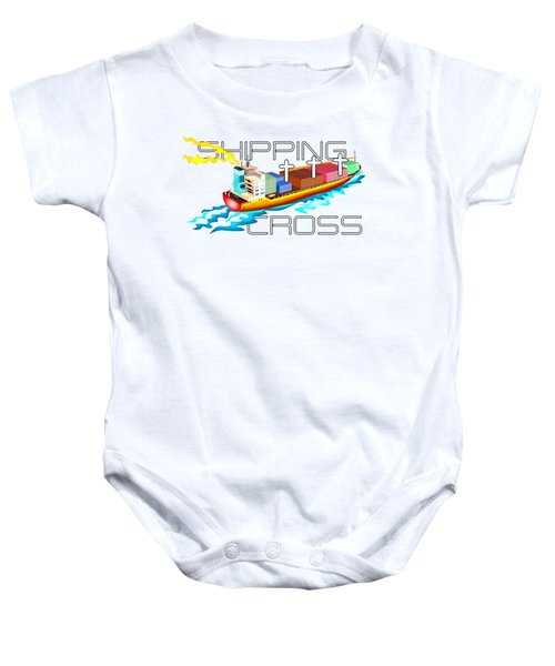 Shipping Cross Baby Onesie