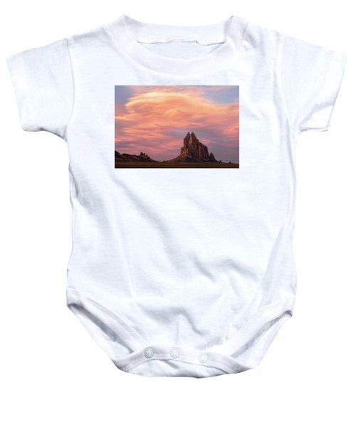 Shiprock At Sunset Baby Onesie