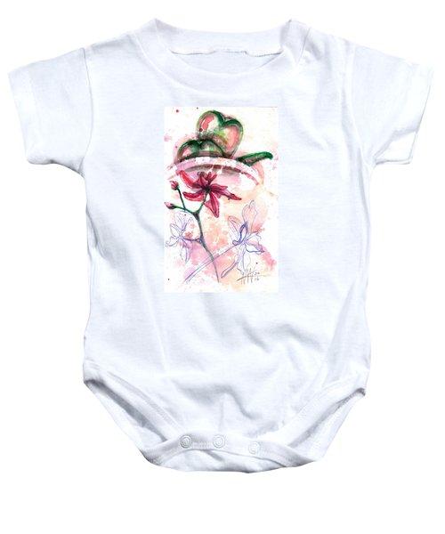 Shiraz Orchid II Baby Onesie