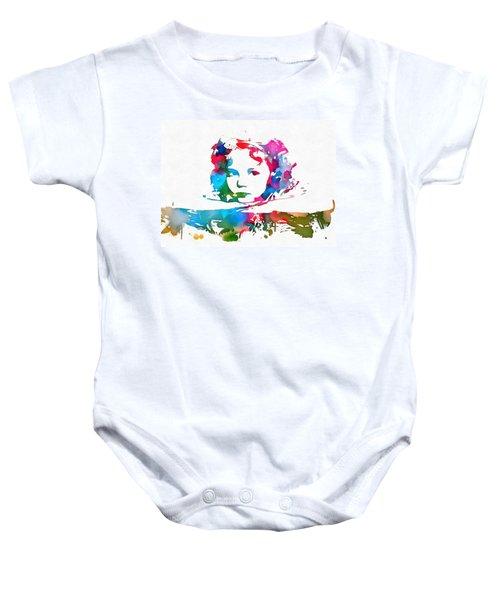 Shirley Temple Watercolor Paint Splatter Baby Onesie