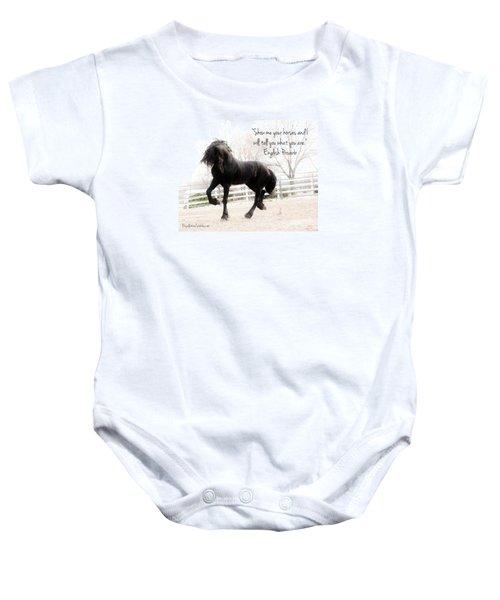 Show Me Your Horse Baby Onesie