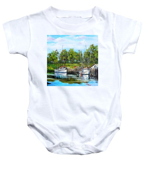 Shrimping Boats Baby Onesie