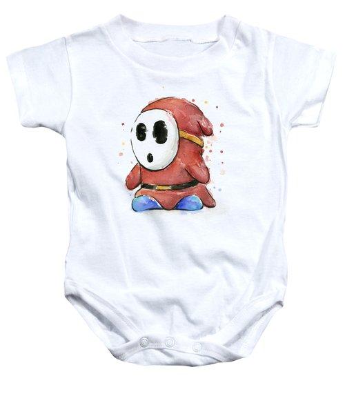 Shy Guy Watercolor Baby Onesie
