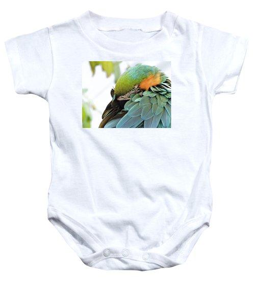 Shy Macaw Baby Onesie