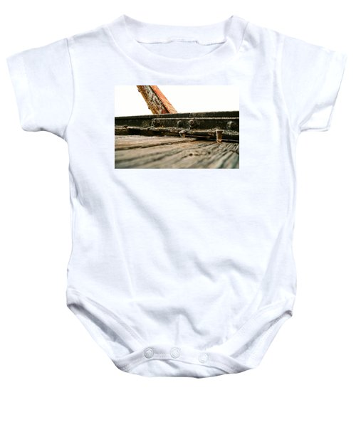 Side Of Rail #photography #trains Baby Onesie