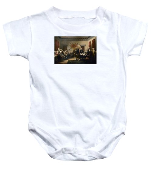 Signing The Declaration Of Independence Baby Onesie