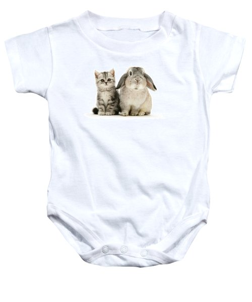 Silver Tabby And Rabby Baby Onesie