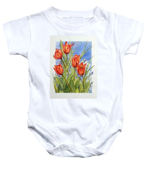 Simply Tulips Baby Onesie