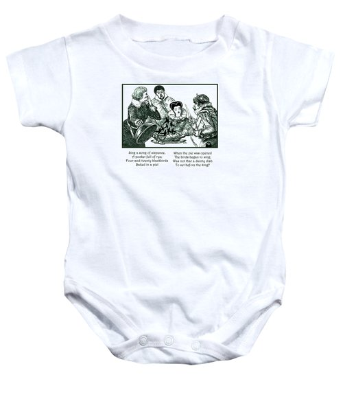 Sing A Song Of Sixpence Nursery Rhyme Baby Onesie