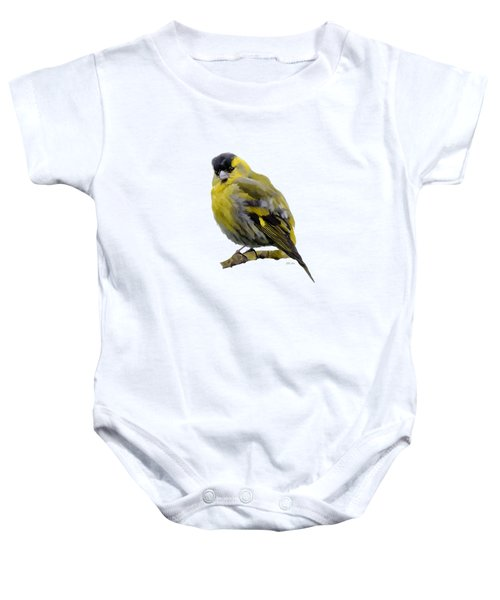 Siskin - Carduelis Spinus Baby Onesie by Bamalam  Photography