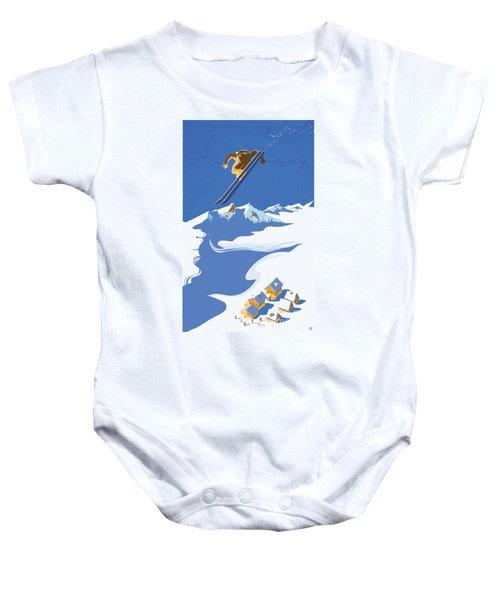 Sky Skier Baby Onesie