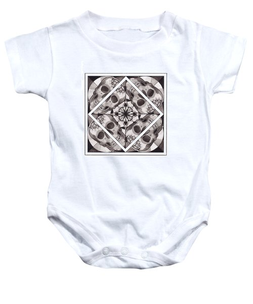 Skull Mandala Series Number Two Baby Onesie by Deadcharming Art