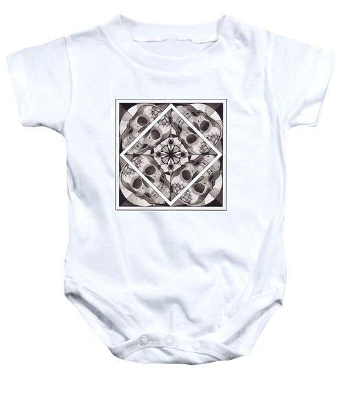 Skull Mandala Series Number Two Baby Onesie