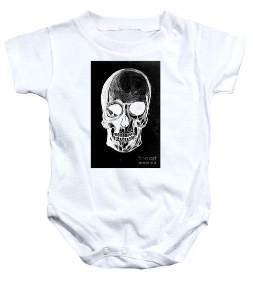Skull Study 3 Baby Onesie