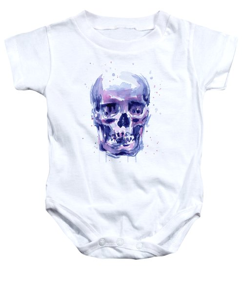 Skull Watercolor Baby Onesie