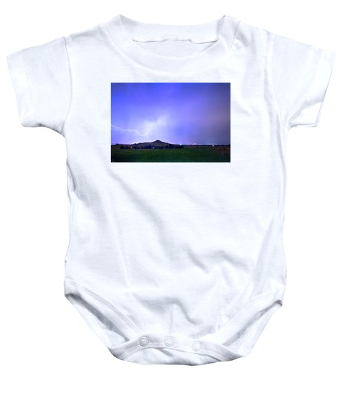 Baby Onesie featuring the photograph Sky Monster Above Haystack Mountain by James BO Insogna