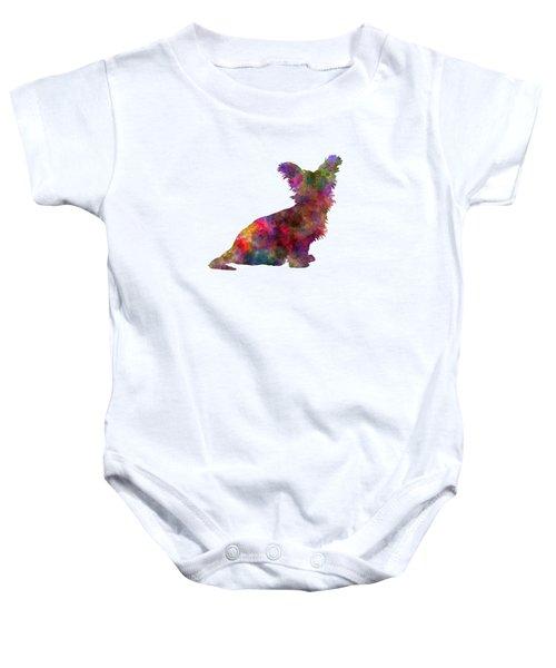 Skye Terrier 02 In Watercolor Baby Onesie