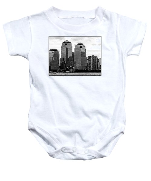 Skyline Nyc River View  Baby Onesie