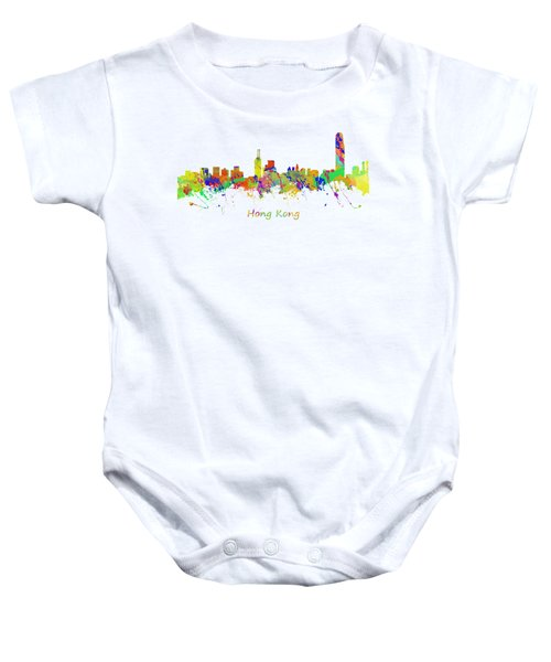 Skyline Of Hong Kong Baby Onesie by Chris Smith