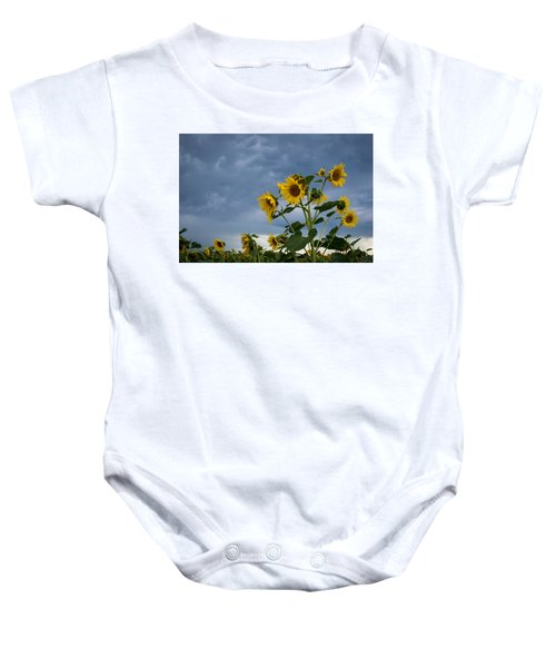 Small Sunflowers Baby Onesie