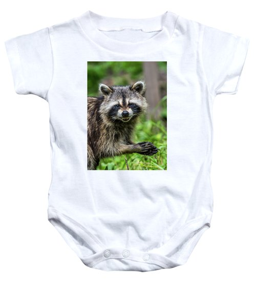 Smiling Raccoon Baby Onesie