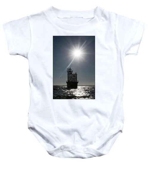 Smith Point Lighthouse Baby Onesie