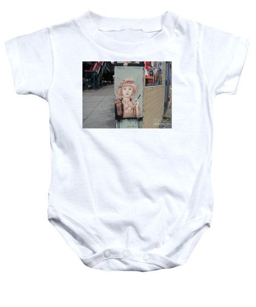 Smoking Girl  Baby Onesie by Cole Thompson