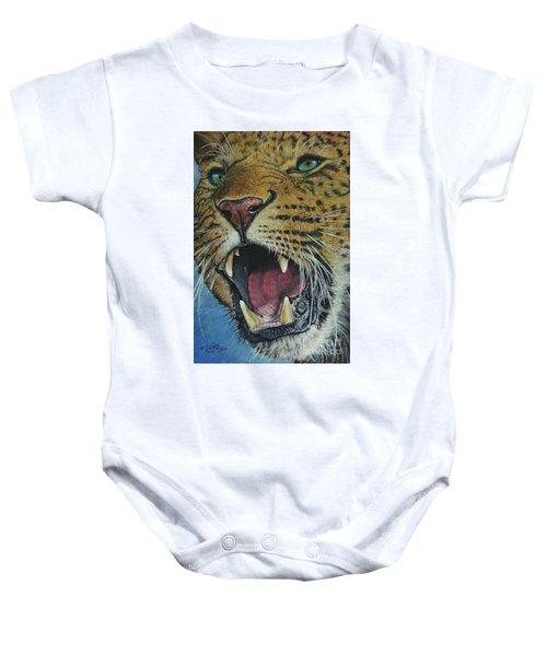 Snarl...amur Leopard Baby Onesie