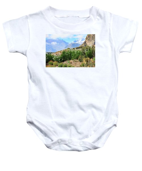 Baby Onesie featuring the photograph Snow In The Desert by David Chandler