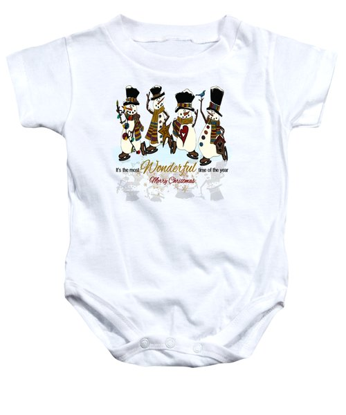 Snow Play Baby Onesie