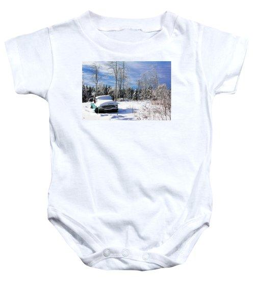 Snow Truck Baby Onesie