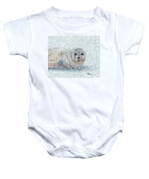 Snowy Seal Baby Onesie