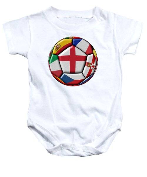 Soccer Ball With Flag Of England In The Center Baby Onesie