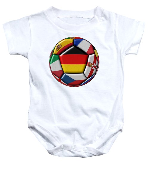 Soccer Ball With Flag Of German In The Center Baby Onesie