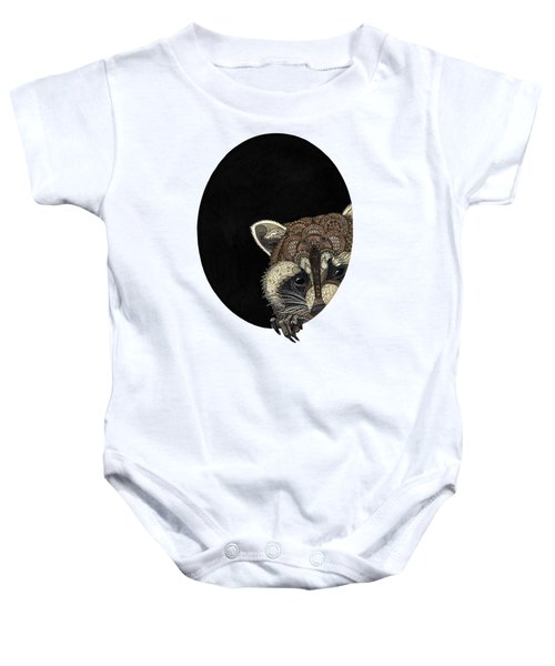 Socially Anxious Raccoon Baby Onesie by ZH Field
