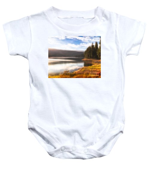 Soft Sunrise Baby Onesie