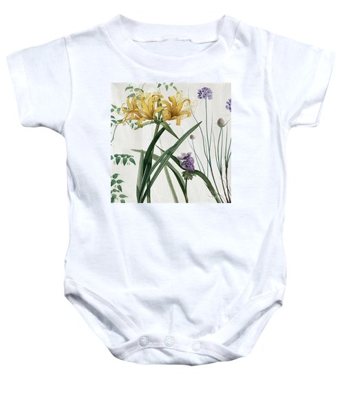 Softly Yellow Lilies  Baby Onesie