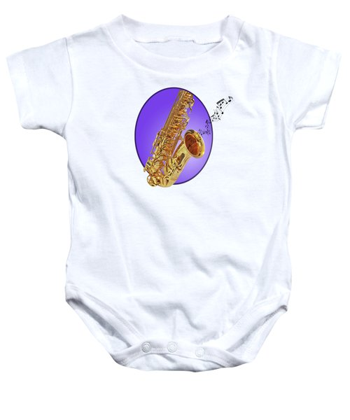 Sounds Of The Sax In Purple Baby Onesie